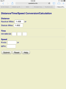 Send to Distance Speed Time Calculator