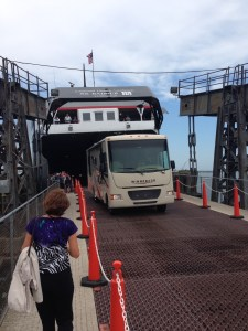 Backing RV onto Ferry
