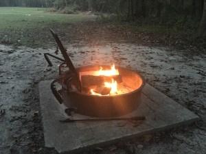 Campfire in Petigrew State Park