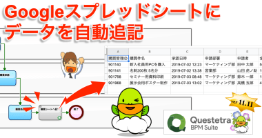 クラウド型ワークフローv11.11、 Google シートへの自動追記を強化