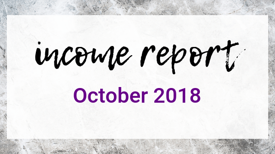 October 2018 Income Report