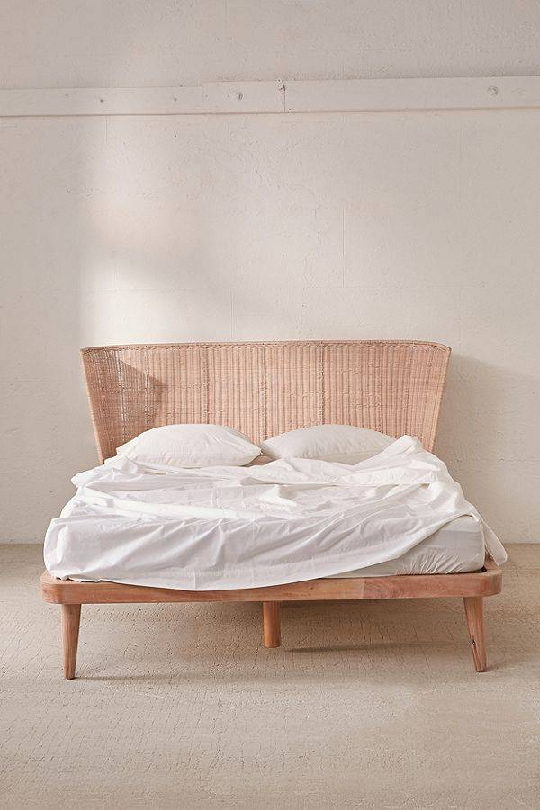 Urban Outfitters Rattan Bed
