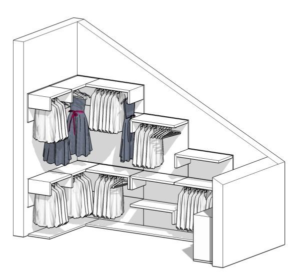Come realizzare una cabina armadio questioni di arredamento - Cabine armadio in mansarda ...