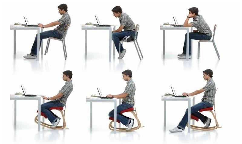 Sedia con poggia ginocchia awesome i lavori sedentari e la