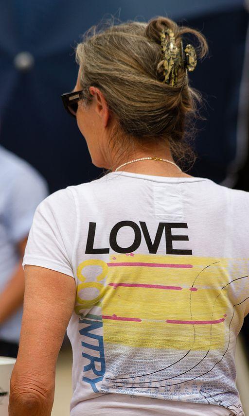 Woman in t-shirt