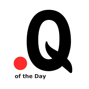 QuOTeD Question of the Day Podcast Logo. Letter Q and Record button.