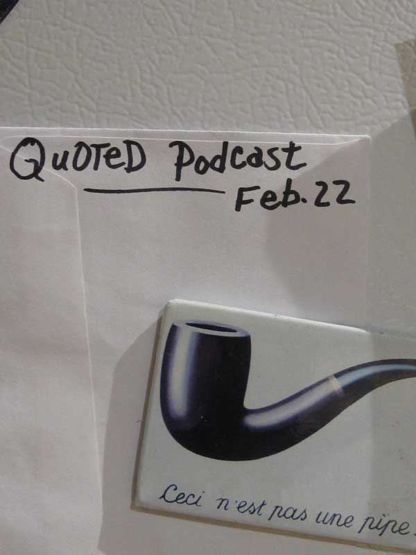 QuOTeD Podcast pre-event special assignment. Start a list.