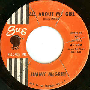 """All About My Girl"" (1962), Sue Records (photo credit: www.discogs.com)"
