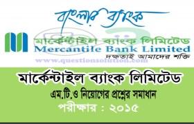 Mercantile Bank Management Trainee Officer Question Solve 2015