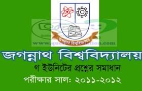 Jagannath University C Unit Question Solution 2011-12