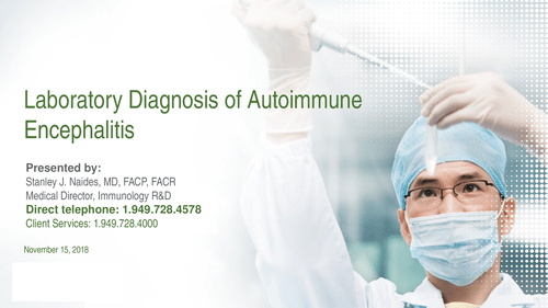 Laboratory Diagnosis Of Autoimmune Encephalitis