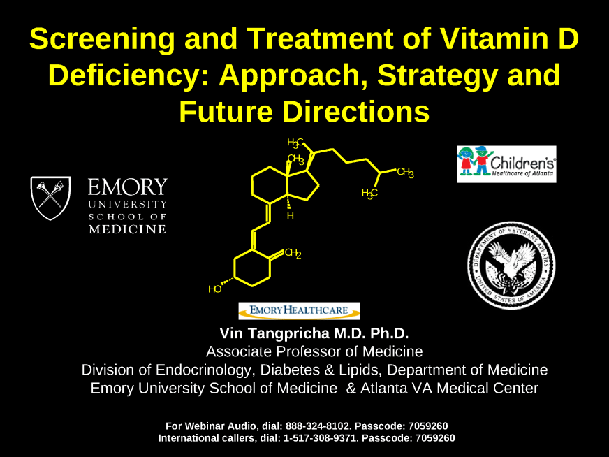 Screening and Treatment of Vitamin D Deficiency: Approach ...