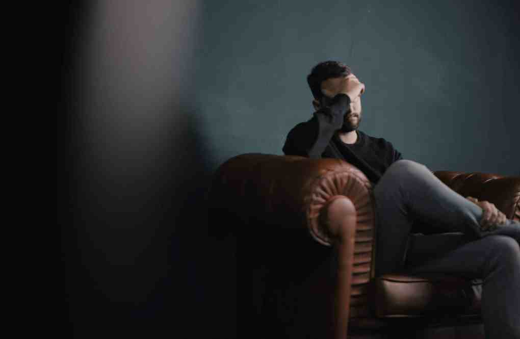 Man in a counselling session for depression