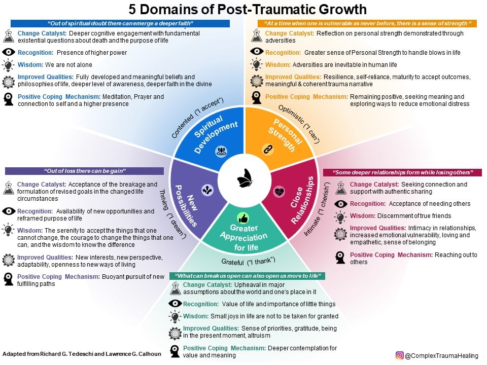 domains of post traumatic growth