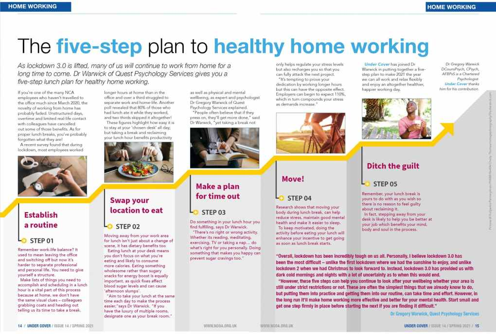 5 tips on healthy home working