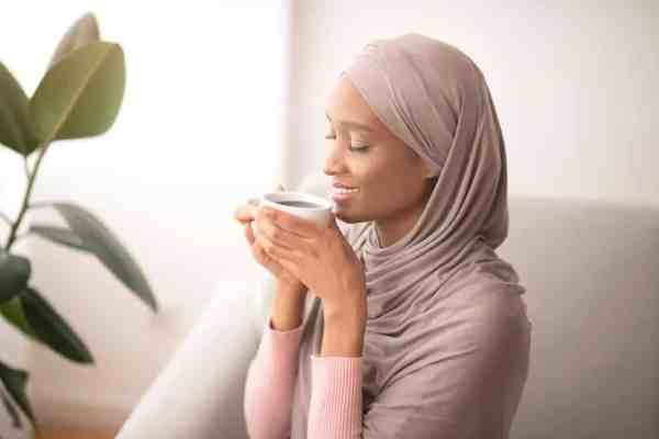 Woman Practicing Gratitude