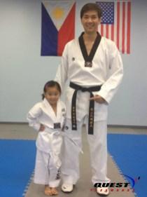 white belt with Master Vargas