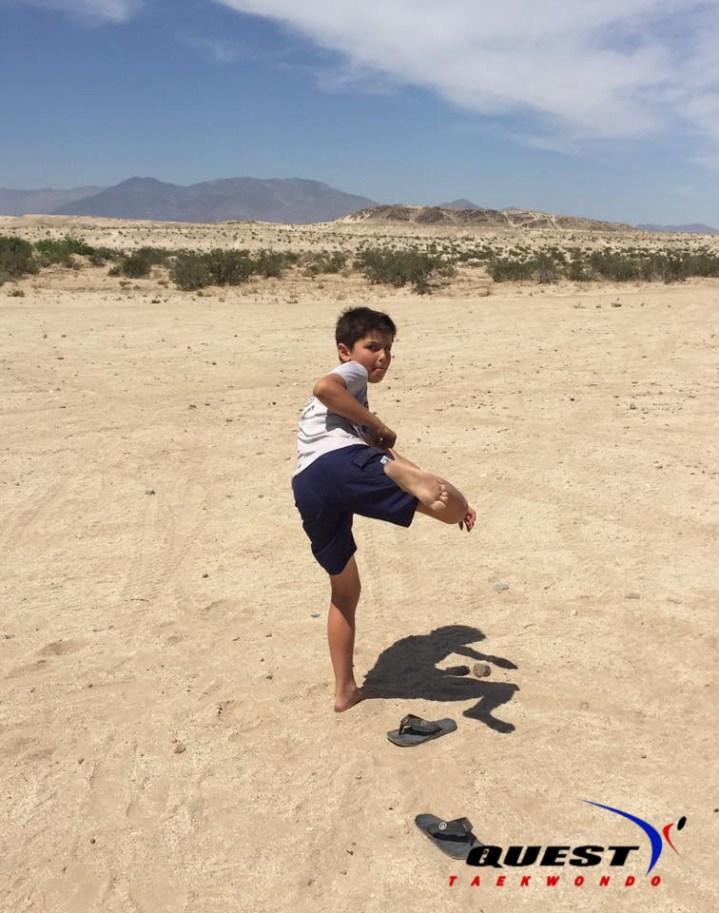 Graham Lunzer in Ocotillo Wells, Borrego Springs, CA