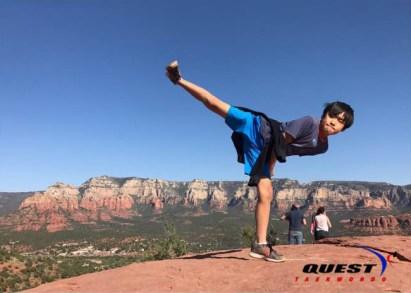Michael Hwang at Sedona Summit Trail