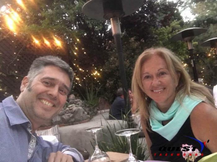 happy parents having dinner