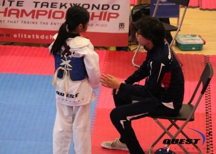 Chloe Tabil and Assistant Coach RJ
