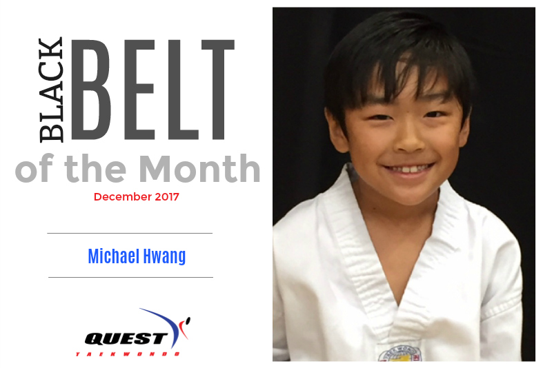 Black Belt of the Month: Michael Hwang