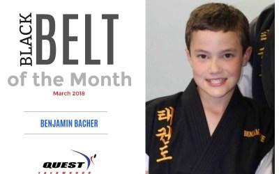 Black Belt of the Month: Benjamin Bacher