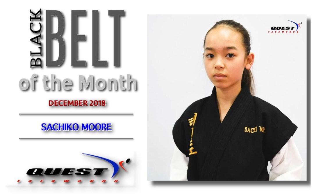 Black Belt of the Month: Sachiko Moore