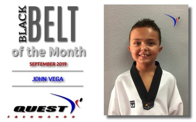Black Belt of the Month: John Vega