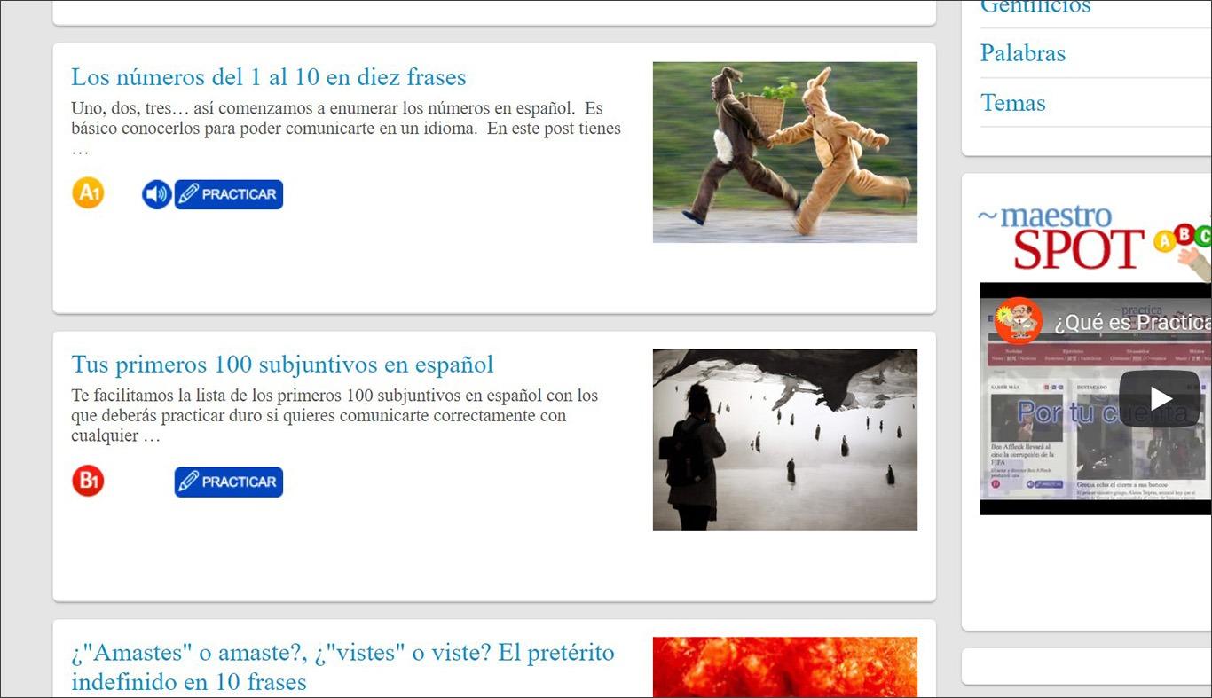 Онлайн-ресурс з вправами для вивчення іспанської мови Practica Español