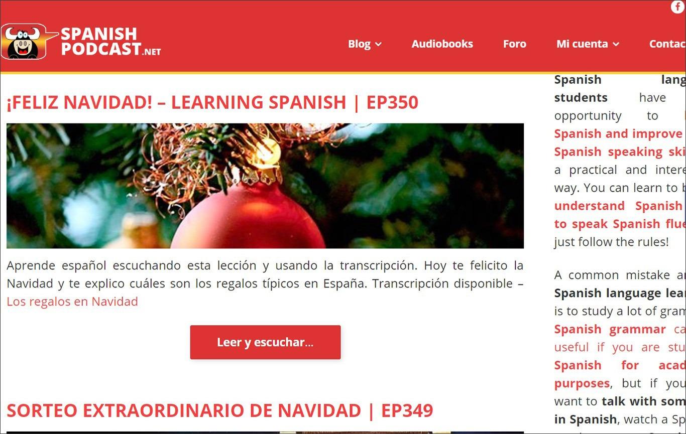 Подкасти для вивчення іспанської spanishpodcast.net