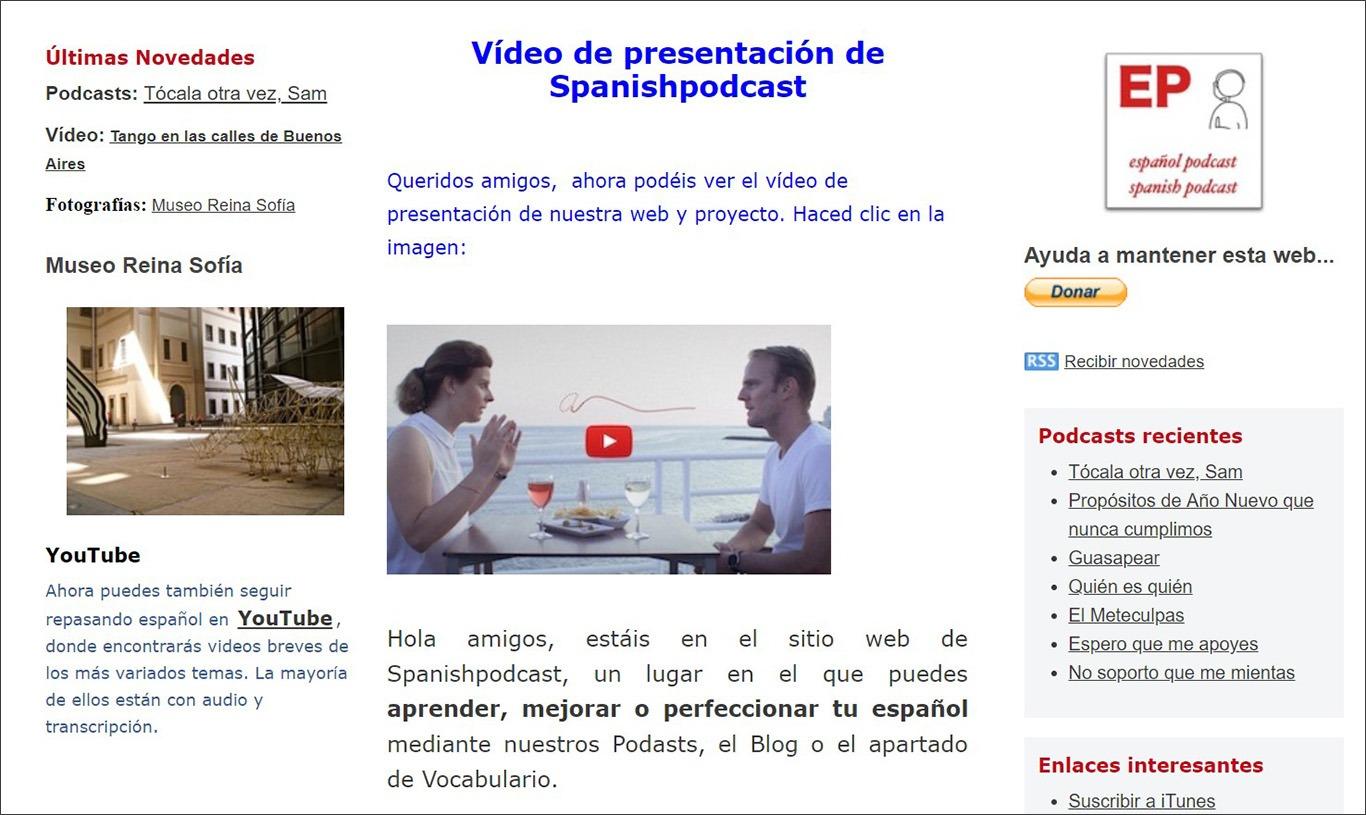 Подкаст для вивчення іспанської мови spanishpodcast.org