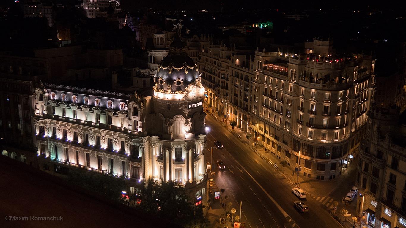Мадрид уночі (Фото: Максим Романчук)