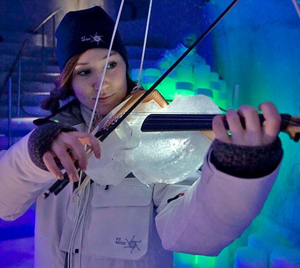 violin de hielo
