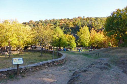 Área recreativa junto al molino de La Hiruela
