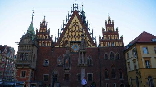 Fachada este del Antiguo Ayuntamiento de Wroclaw