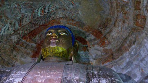Buda en el interior de las Grutas de Yungang