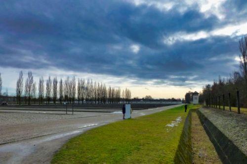 Espacio anteriormente ocupado por los barracones del Campo de Concentración de Dachau