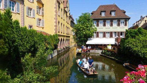 Canales de Colmar, una de las ciudades más bellas de Francia
