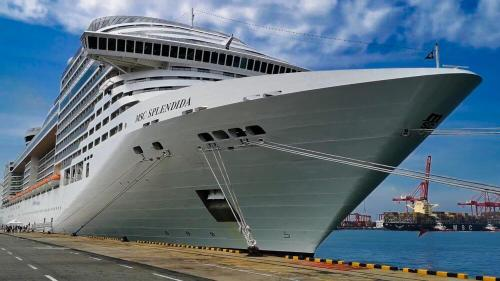 Crucero en el puerto de Colombo