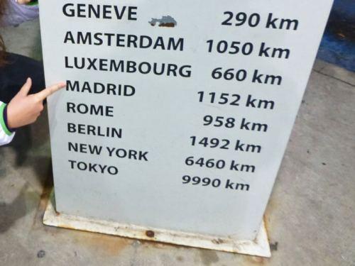 Distancia a Madrid empezando nuestro viaje en coche por Europa