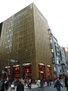Edificio Cartier en Ginza