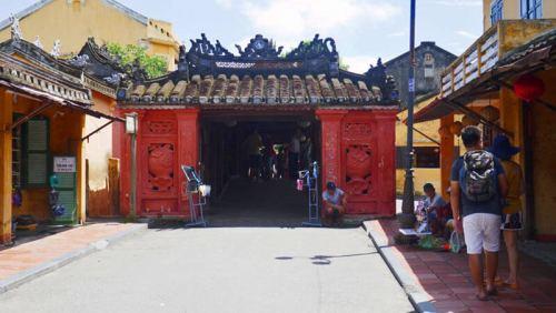 Estructura de acceso al puente cubierto japones de Hoi An