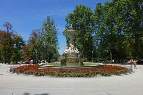 Fuente de los Galápagos en el Parque del Retiro de Madrid