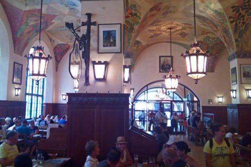 Cervecería Hofbräuhaus, una de las más famosas de Múnich