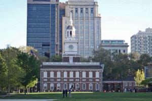 Independence Hall en Filadelfia, el sitio donde se firmó la Declaración de Independencia de los Estados Unidos