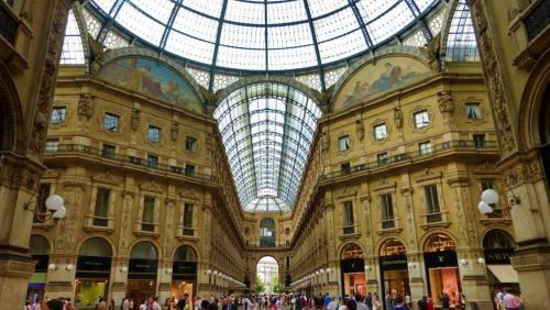 Galería Vittorio Emanuele II, el centro comercial más famoso de Milán.