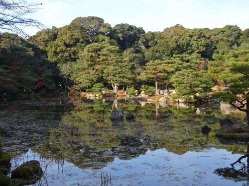 Estanque Kyoko-chi o Espejo de Agua en el Kinkakuji