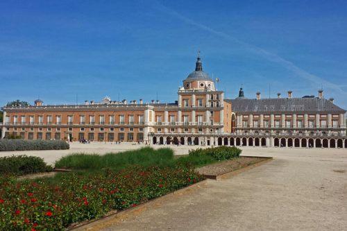 Fachada lateral del Palacio Real de Aranjuez