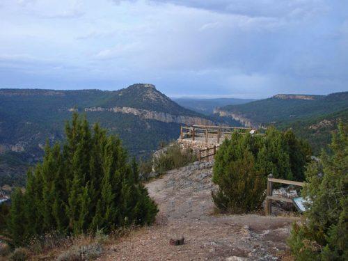 Parque Natural del Alto Tajo, compartido entre las provincias de Cuenca y Guadalajara